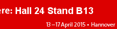 """Participated in """"HANNOVER MESSE""""."""